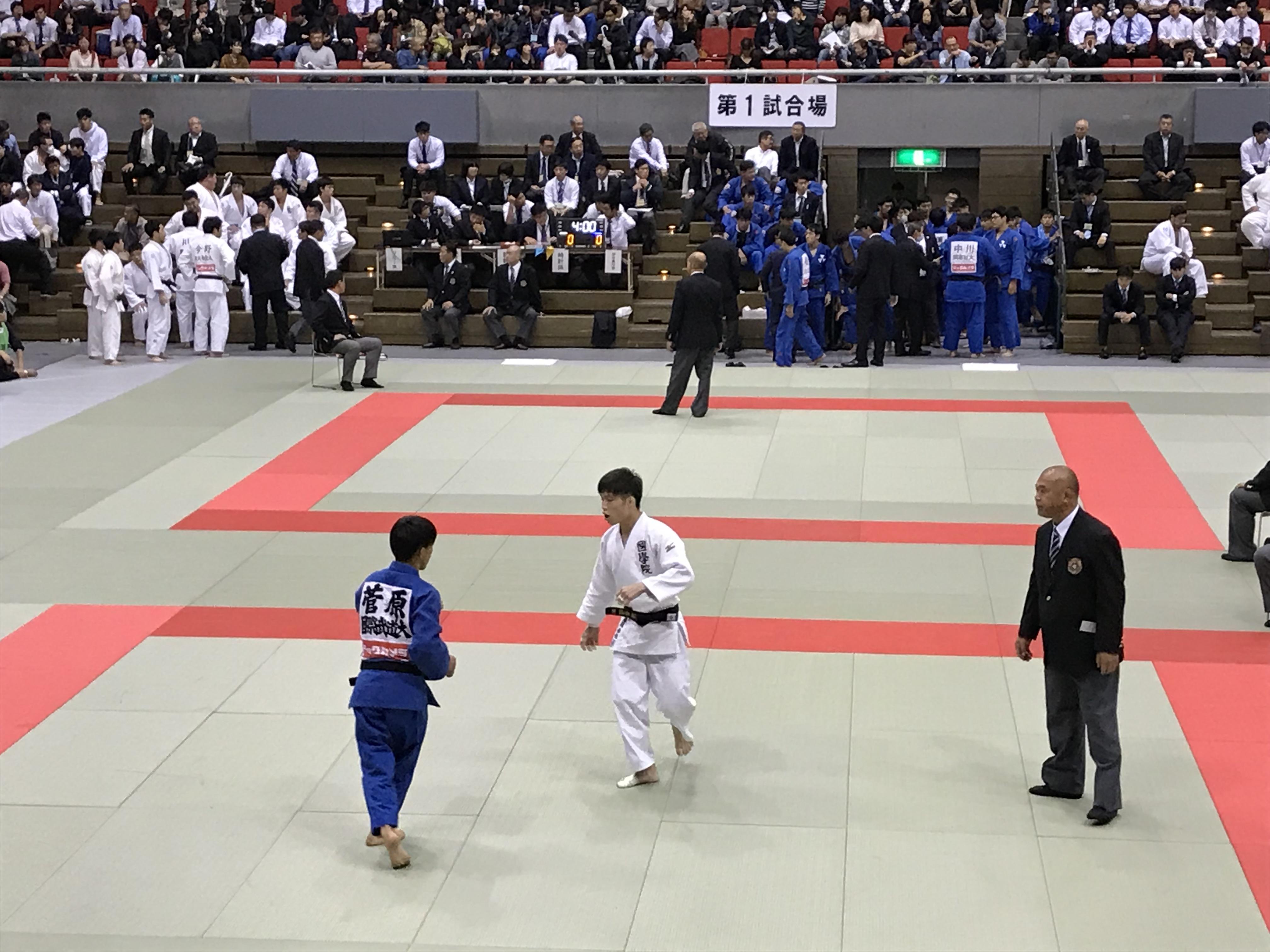 国際武道大学戦-藤阪君