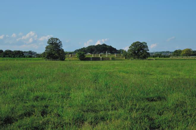 現在の平城宮跡(第二次大極殿と東区朝堂院)